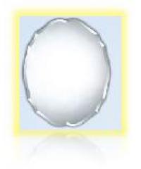NICE กระจกเงาทรงกลม ขนาด 45x60ซม.  PQS-XS6045C