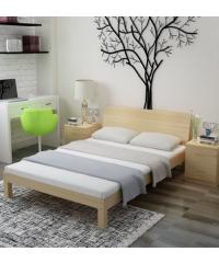 LUXUS เตียงไม้สน 5ฟุต NX-150