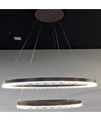 EILON โคมไฟแขวนโมเดิร์น 63วัตต์คูลไวท์ KDD7016 สีน้ำตาลอ่อน