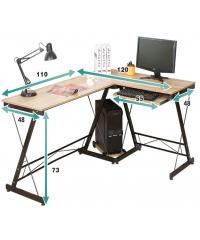 SMITH โต๊ะทำงาน  ขนาด 120X158X73ซม. สีไวท์เมเปิล HD001