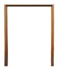 BEST วงกบประตูไม้เนื้อแข็งพร้อมซับ 170x200cm.  -
