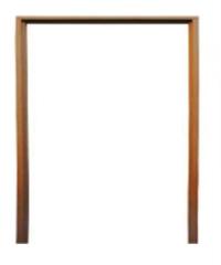 BEST วงกบประตูไม้เนื้อแข็ง 250x210cm.  -