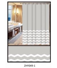 PRIMO ผ้าม่านห้องน้ำ PEVA ลายกราฟฟิก 180x180ซม.   DF024