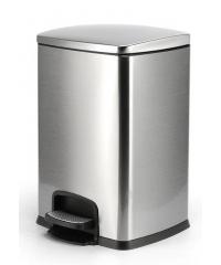 LUXUS ถังขยะขาเหยียบ ความจุ 20ลิตร สีเงิน EED013-430SL