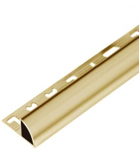 MAC คิ้วอลูมิเนียมแบบโค้ง 8 มม. ยาว 2 เมตร.   DAT004 Gold