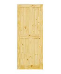 D2D ประตูไม้สนนิวซีแลนด์ ขนาด  80x200 ซม. Eco Pine - 44 ธรรมชาติ