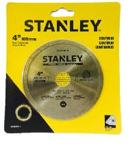 STANLEY แผ่นตัดเพชรเปียก 4 นิ้ว  STA47401L สีเหลือง
