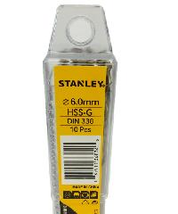 STANLEY ดอกเจาะเหล็ก 6 มม. แพ็ค 10 STA50079B10 สีโครเมี่ยม