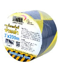YAMADA เทปยูโรกั้นเขต ขนาด 3 นิ้ว Yellow-Black 3 เหลือง-ดำ