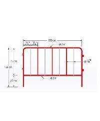 YAMADA แผงกันจราจร YAMADA แบบมีตะขอ ขนาด 1.5 เมตร มีตะขอ ขนาด 1.5 เมตร ขาว-แดง