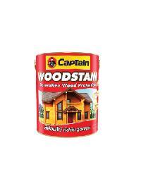 CAPTAIN สีย้อมไม้กัปตัน วู๊ดสเตน กึ่งเงา #0CW16N 1 กล. สีน้ำตาลเข้ม