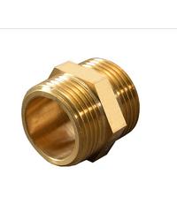 PP ข้อต่อตรง(ทองเหลือง) ตัวผู้-ตัวผู้ 1/2 นิ้ว 300479 ทองเหลือง