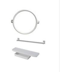 PIXO กระจกชุด3ชิ้นแบบกลม MS08 ขาว