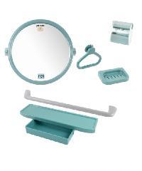 PIXO กระจกชุด6ชิ้น แบบกลม MS012 สีเทา