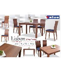 Grown ชุดโต๊ะอาหารไม้บีช 4ที่  Risbon  สีน้ำตาล