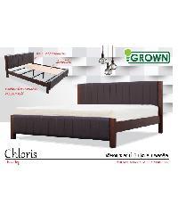 Grown เตียงเบาะเสาไม้ 6 ฟุต  คลอริส