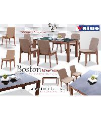 Grown ชุดโต๊ะอาหารไม้บีช 6 ที่ บอสตั้น