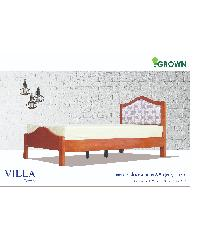 Grown เตียงนอน  VILLA 3.5 ฟุต  สีมะฮอกกานี