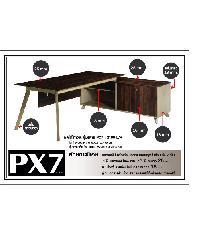 Grown ชุดโต๊ะทำงาน PX 72190 L/R สีโอ๊ค