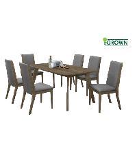 Grown ชุดโต๊ะอาหาร 6 ที่นั่ง  ลาเต้ Latte