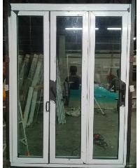 A-Plus  ประตูอลูมิเนียมบานเฟี้ยม (3บาน)  SAHARA 150x205ซม. สีเทาซาฮาร่า