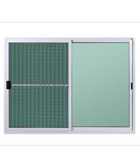 A-Plus หน้าต่างบานเลื่อนสลับ(พร้อมมุ้ง) ขนาด  150x110 cm. A-P/002 ขาว