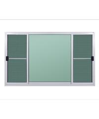 A-Plus หน้าต่างบานเลื่อนสลับ (พร้อมมุ้ง) ขนาด  180x110 cm. A-P/003 ขาว