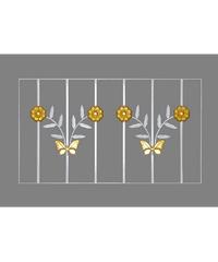A-Plus เหล็กดัดลายดอกไม้จีน 0.80x0.50 W1007 ขาว