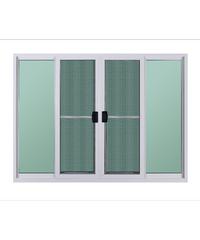 A-Plus หน้าต่างบานเลื่อนเปิดกลาง ขนาด 150x110 cm. A-P/1001 ขาว