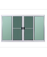 A-Plus หน้าต่างบานเลื่อนเปิดกลาง พร้อมมุ้ง ขนาด 180x110 cm. A-P/1002 ขาว