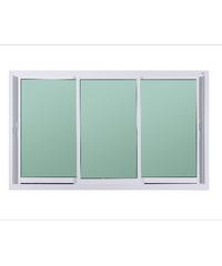 A-Plus หน้าต่างอลูมิเนียมบานเลื่อน SFS Like-009 1.80 x 1.08 ม.  สีขาว ไม่มีมุ้ง