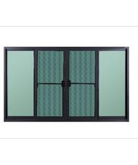 A-Plus หน้าต่างบานเลื่อนเปิดกลาง ขนาด 180x110 cm. SR-006 โอ๊ค