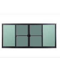 A-Plus หน้าต่างบานเลื่อนเปิดกลาง ขนาด 240x110 cm. SR-007 โอ๊ค