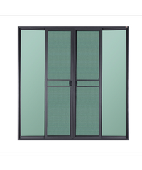A-Plus ประตูบานเลื่อนเปิดกลาง ขนาด 200x205 cm.  SAHARA เทา