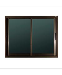 A-Plus หน้าต่างอลูมิเนียมบานเลื่อน SS Like-001 1.20 x 1.08 ม.  สีชา ไม่มีมุ้ง