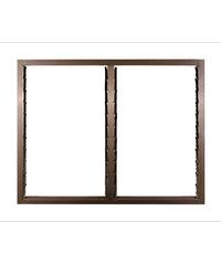 A-Plus หน้าต่างอลูมิเนียมบานเกล็ด Like-013 1.20 x 1.08 ม.  สีชา ไม่มีมุ้ง