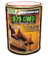 DWD สีย้อมไม้ ชนิดเงา 106EX สีไม้มะค่า  979DWD (3.785ลิตร)