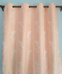 - ผ้าม่านหน้าต่าง ทิวลิป ขนาด 140x150  ซม. สีโอรส ZFB 23-3A
