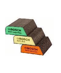BOSCH ฟองน้ำขัด สี่เหลี่ยมคางหมู 3Pcs