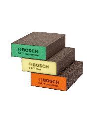 BOSCH ฟองน้ำขัด สี่เหลี่ยมหนา 3Pcs Bosch ฟองน้ำขัด สี่เหลี่ยมหนา 3Pcs