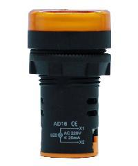 CT ELECTRIC ไพลอตแลมป์(LED) AD16 สีเหลือง