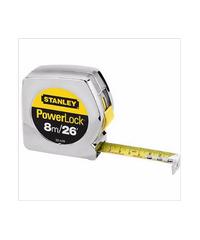 STANLEY ตลับเมตร 8m 33-428 สีเงิน -เหลือง-ดำ