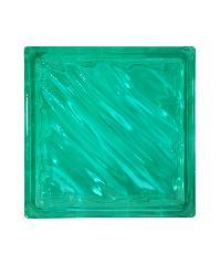 ช้างแก้ว บล็อกแก้วสี เทคนิค Coated Glass N-009/943 เทคนิคบล็อกสี แก้วคลื่นสมุทร สีเขียว