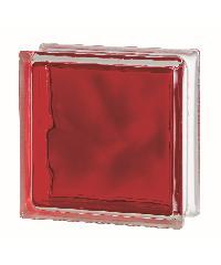 ช้างแก้ว บล็อกแก้วสี แก้วเมฆา เทคนิคกลิ้ง I-018/305. สีแดง