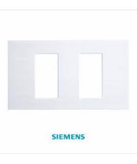 SIEMENS ฝา 2ช่อง DELTA azio (แยก)ขนาด 120 มม. สีขาว 5TG9 860-6PB01 ขาว