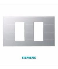 SIEMENS ฝา 2 ช่อง (แยก) ขนาด120 มม.DELTA azio สีเงิน 5TG9 860-6PB02