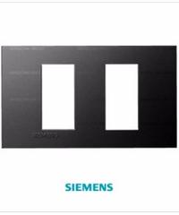 SIEMENS ฝา 2 ช่อง (แยก)ขนาด 120 มม. DELTA azio สีดำ 5TG9 860-6PB04 black