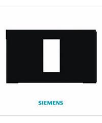 SIEMENS ฝา 1 ช่อง ขนาด 120 มม. DELTA azio สีดำ 5TG9 860-5PB04 ดำ