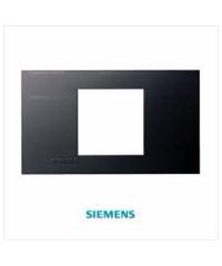 SIEMENS ฝา 2 ช่อง ขนาด 120 มม. DELTA azio สีดำ 5TG9 860-8PB04