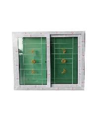 RKT หน้าต่างบานเลื่อนกระจกสองชั้นพร้อมเหล็กดัด  WDI  RKT  190.5*120 cm. สีขาว